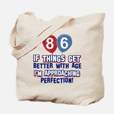86 year Old Birthday Designs Tote Bag