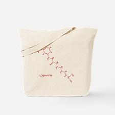 Capsaicin Molecule Tote Bag