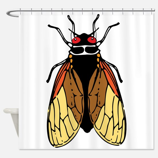 Cicada -Magicicada Bug Drawing Shower Curtain