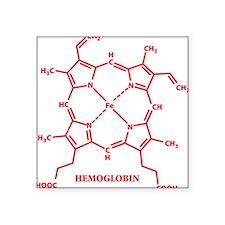 Hemoglobin Molecule Rectangle Sticker