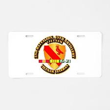 Army - 2-19th FA w VN SVC Aluminum License Plate