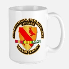 Army - 2-19th FA w VN SVC Large Mug