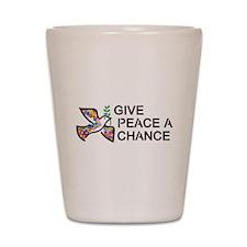 Give Peace a Chance Shot Glass