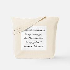 Johnson - Honest Conviction Tote Bag