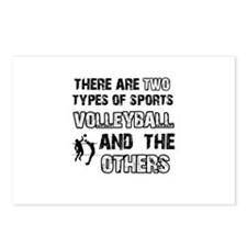 Volleyball designs Postcards (Package of 8)