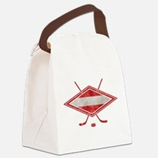 Austria Ice Hockey Flag Canvas Lunch Bag