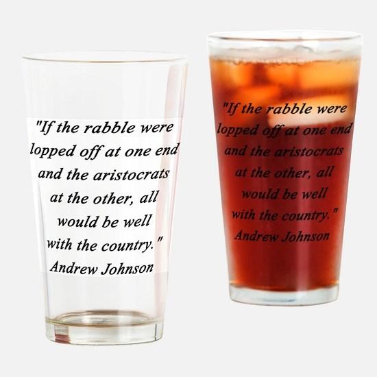 Johnson - Rabble Aristocrats Drinking Glass