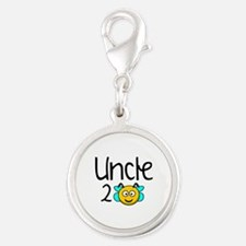 Uncle 2 Bee Silver Round Charm