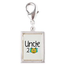 Uncle 2 Bee Silver Portrait Charm