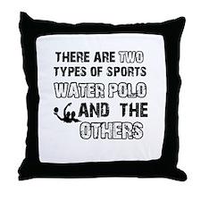 Waterpolo designs Throw Pillow