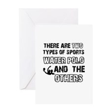 Waterpolo designs Greeting Card