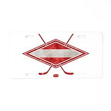 Austria Ice Hockey Flag Aluminum License Plate