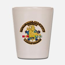 Army - 1-9th CAV w VN SVC Ribbons Shot Glass