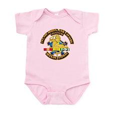 Army - 1-9th CAV w VN SVC Ribbons Infant Bodysuit