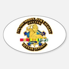 Army - 1-9th CAV w VN SVC Ribbons Decal