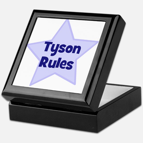 Tyson Rules Keepsake Box