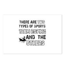Team Roping designs Postcards (Package of 8)