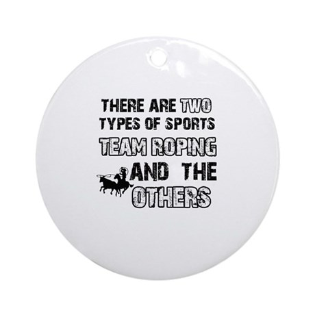 Team Roping designs Ornament (Round)