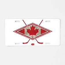 Canadian Hockey Flag Aluminum License Plate