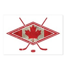 Canadian Hockey Flag Postcards (Package of 8)