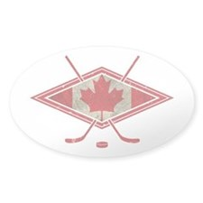 Canadian Hockey Flag Decal