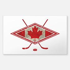 Canadian Hockey Flag Bumper Stickers
