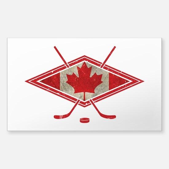 Canadian Hockey Flag Decal