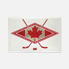 Canadian Hockey Flag Rectangle Magnet (10 pack)