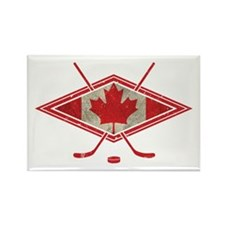 Canadian Hockey Flag Rectangle Magnet
