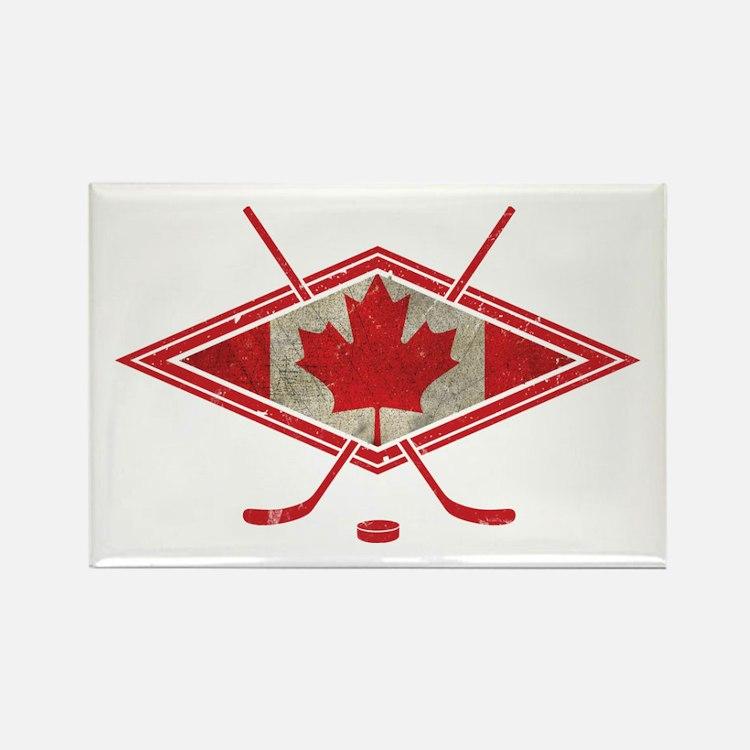 Canadian Hockey Flag Rectangle Magnet