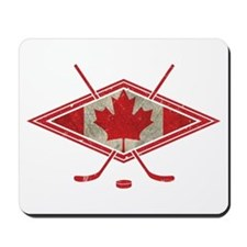 Canadian Hockey Flag Mousepad