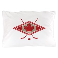 Canadian Hockey Flag Pillow Case