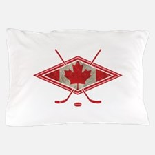 Canadian Hockey Flag Pillow Case