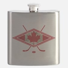 Canadian Hockey Flag Flask