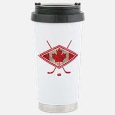 Canadian Hockey Flag Travel Mug