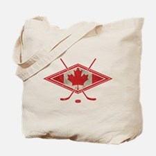 Canadian Hockey Flag Tote Bag