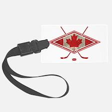Canadian Hockey Flag Luggage Tag
