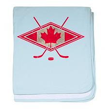 Canadian Hockey Flag baby blanket