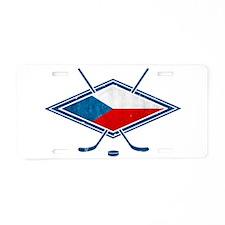 Czech Ice Hockey Flag Aluminum License Plate