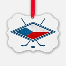 Czech Ice Hockey Flag Ornament