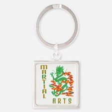 Martial Arts Smoke Fire Dragon Keychains