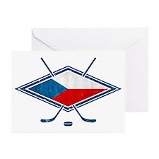 Czech Ice Hockey Flag Greeting Cards (Pk of 20)