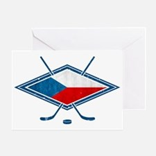 Czech Ice Hockey Flag Greeting Card