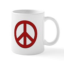 Crimson Peace Sign Mug