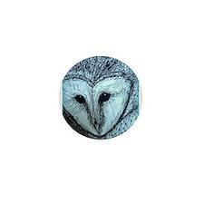 barn owl, wildlife art! Mini Button (10 pack)