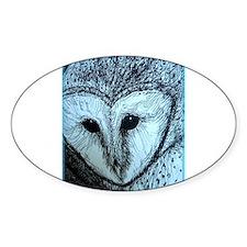 barn owl, wildlife art! Decal