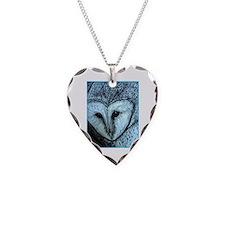barn owl, wildlife art! Necklace