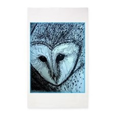 barn owl, wildlife art! 3'x5' Area Rug