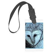 barn owl, wildlife art! Luggage Tag
