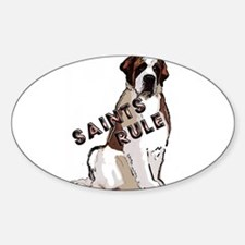 Saints Rule Rectangle Decal